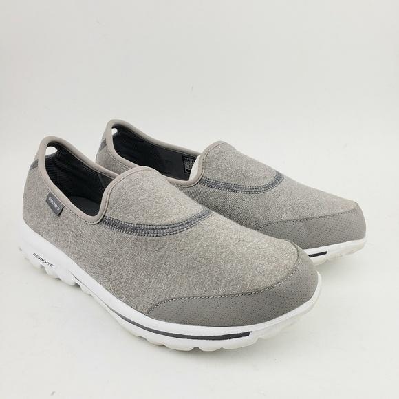 Skechers Gowalk Goga Mat Gray Slip On Sneakers 6.5